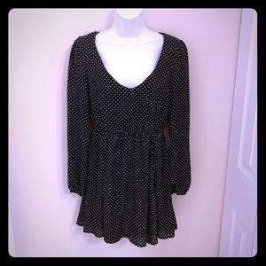 Forever 21 Black White Polka Dot Mini Dress M NWT